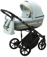 Детская коляска 2 в 1 с люлькой и прогулочная для новорожденных трансформер Adamex Rimini Tip RI-22. 31090
