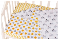 Сменный комплект Babyroom SB-003  белый (желтый,серый горох). 34692