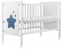 Кровать Babyroom Звездочка Z-01 откидной бок, колеса  бук белый. 34092
