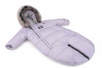 Зимний детский комбинезон - трансформер Cottonmoose Moose 0-6 M 767/69 gray (серый). 31305
