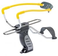 Рогатка Man Kung MK-SL06BK с упором ц:черный/желтый. 1000073