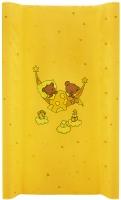 Пеленальный матрас Maltex мягкий 50х80 см  мишка в гамаке, желтый. 34522