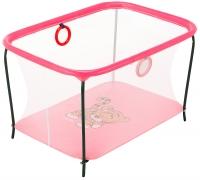 Манеж Qvatro LUX-02 мелкая сетка  розовый (tiger). 34230
