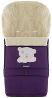 Зимний конверт Babyroom №20 с удлинением  фиолетовый (мордочка мишки штопаная). 33483