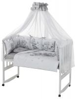 Детская постель Babyroom Bortiki Print-08  grey teddy. 33386
