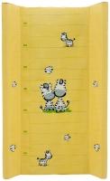 Пеленальный матрас Maltex мягкий 50х80 см  zebra, желтый. 34514