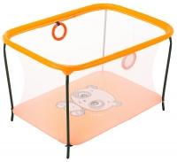 Манеж Qvatro LUX-02 мелкая сетка  оранжевый (panda). 34225