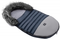 Зимний детский конверт Bair Polar premium  темно-синий - серая кожа. 31356
