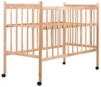 Кровать Наталка ОБЛ ровные быльца  ольха без лака. 34112
