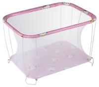 Манеж Qvatro Classic-02 мелкая сетка  розовый (hello kitty). 34206