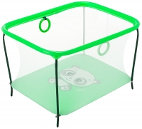 Манеж Qvatro LUX-02 мелкая сетка  зеленый (panda). 34217