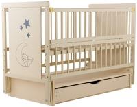 Кровать Babyroom Медвежонок M-03 маятник, ящик, откидной бок  бук слоновая кость. 34103