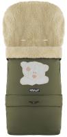 Зимний конверт Babyroom №20 с удлинением  хаки (мордочка мишки штопаная). 33485