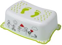 Подставка Maltex The Family 5948 нескользящая  white with green rubbers. 34608