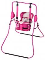 Качель детская домашняя напольная Умка Casper  розовый-бежевый. 30979