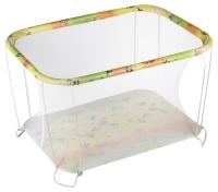 Манеж Qvatro Classic-02 мелкая сетка  разноцветный (губка боб). 34204