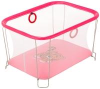 Манеж Qvatro Солнышко-02 мелкая сетка  розовый (tiger). 34254