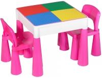 Детский стол и 2 стульчика Tega Mamut 899P dark pink-white. 31036