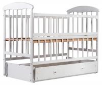 Детская кровать Наталка ОБМЯО маятник и ящик, откидной бок  ольха белая. 31012