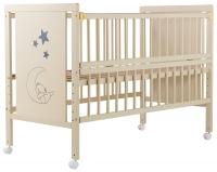 Кровать Babyroom Медвежонок M-01 откидной бок, колеса  бук слоновая кость. 34099