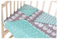 Сменный комплект Babyroom SB-003  бирюзовый (звезды). 34693