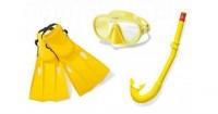 Набор для плавания (ласты, маска и трубка), размер M Intex. 36100