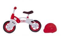 "Беговел ""Star Bike"" с шлемом, 10"" (бело-красный) Kinderway. 40181"