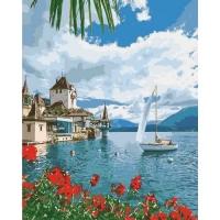 """Картина по номерам """"Утро в Швейцарии"""" Идейка. 35323"""