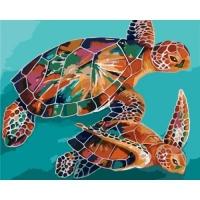 """Картина по номерам """"Черепахи"""" Идейка. 35338"""