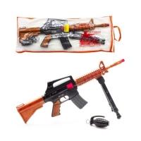 "Автомат-трещетка ""M16"" с гранатой Golden Gun. 36859"