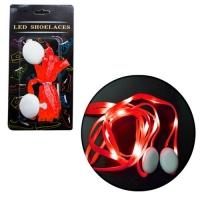 Светящиеся тканевые шнурки 110 см (красные) JIADIHONG. 34885