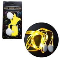 Светящиеся тканевые шнурки 110 см (желтые) JIADIHONG. 34884