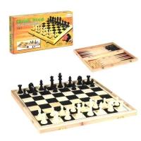 Шахматы деревянные 3 в 1 Liangda. 35993