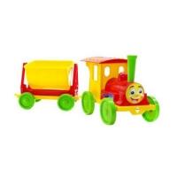 Поезд-конструктор (красно-желтый) Doloni. 36701