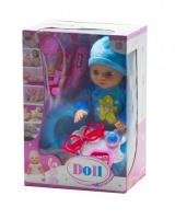"""Функциональный пупс с докторским набором """"Doll"""" (в голубом) JIADIHONG. 38806"""