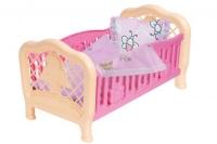 Кроватка для куклы ТехноК розовый. Технок. 37555