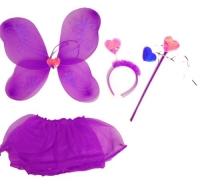"""Карнавальный костюм """"Набор бабочки"""" (фиолетовый) JIADIHONG. 34910"""