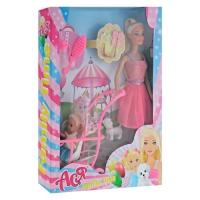 Кукла Ася с коляской и ребёнком JIADIHONG. 38416