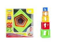 Кубики-пирамидка раскладной BeBeLino. 39930