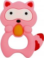 """Прорезыватель в футляре """"Енот"""" (розовый) LI Lindo. 40056"""