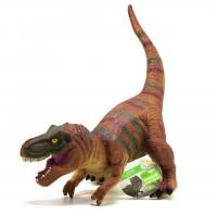 """Динозавр резиновый """"Тираннозавр"""", со звуком (коричневый) JIADIHONG. 38013"""
