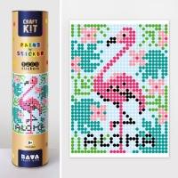 """Картина по номерам с наклейками """"Фламинго"""" JIADIHONG. 35391"""