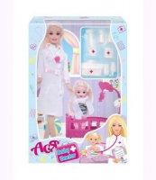 "Кукла ""Ася"" с докторским набором JIADIHONG. 38388"