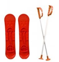 """Детские лыжи """"SKI BIG FOOT"""" (красные) MARMAT. 36107"""