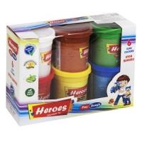 "Тесто игровое ""Heroes"" (6 цветов) E Play Toys. 39412"