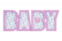 "Фоторамка х 4 ""BABY"" (розовая) JIADIHONG. 40355"
