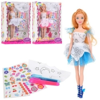 Кукла в платье - расскраске JIADIHONG. 38421