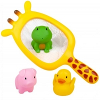 "Набор для купания ""Жираф"" (сачок и 3 игрушки) BeBeLino. 36742"