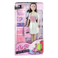 "Кукла Ася с аксессуарами ""I Love Shoes"" JIADIHONG. 38411"