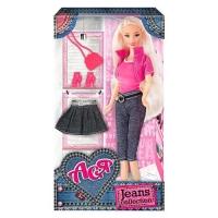 """Кукла Ася с аксессуарами """"Jeans Collection"""" (блондинка) JIADIHONG. 38412"""